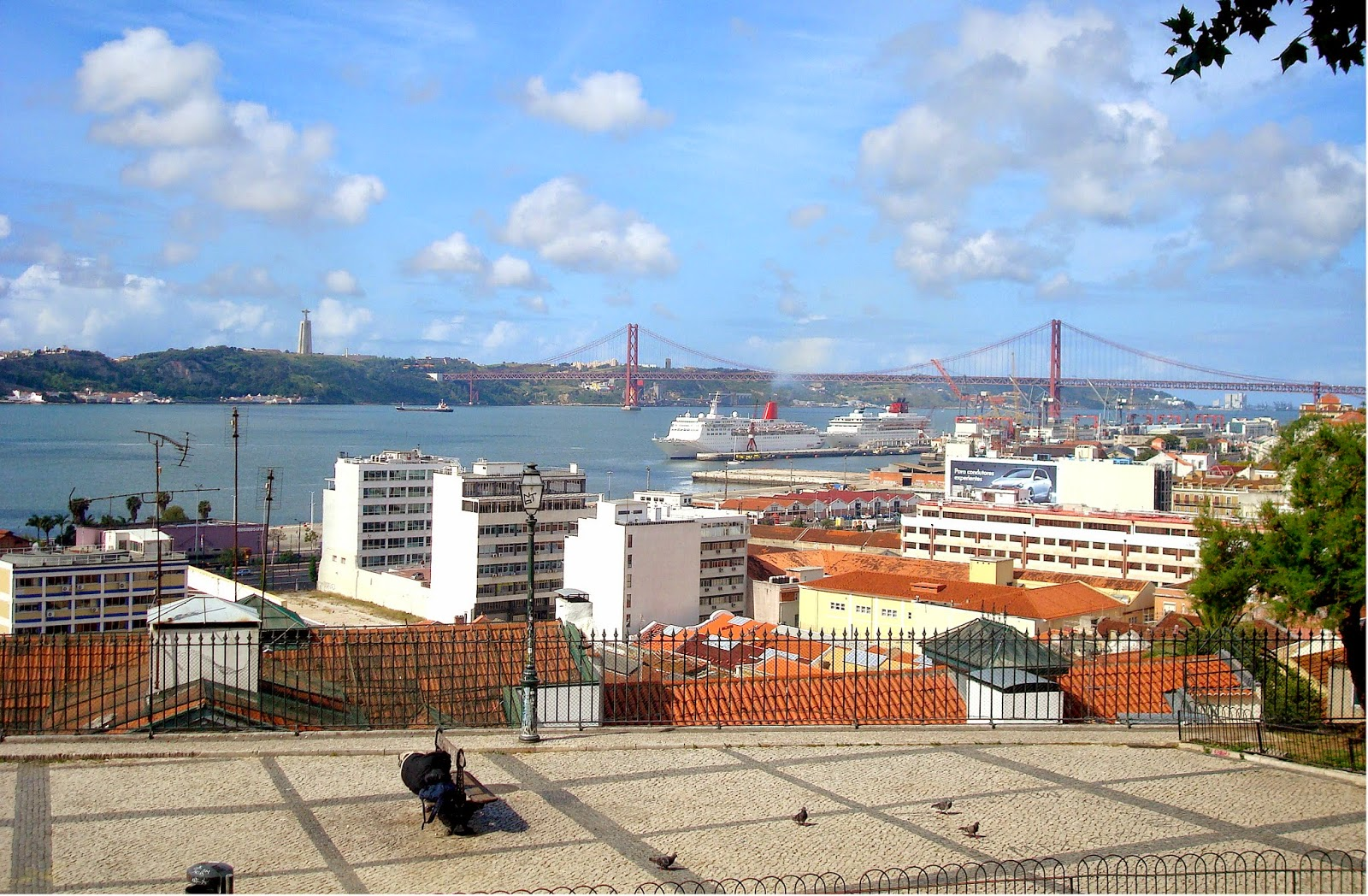 Tagus River and Ponte 25 de Abril, Lisbon, Portugal