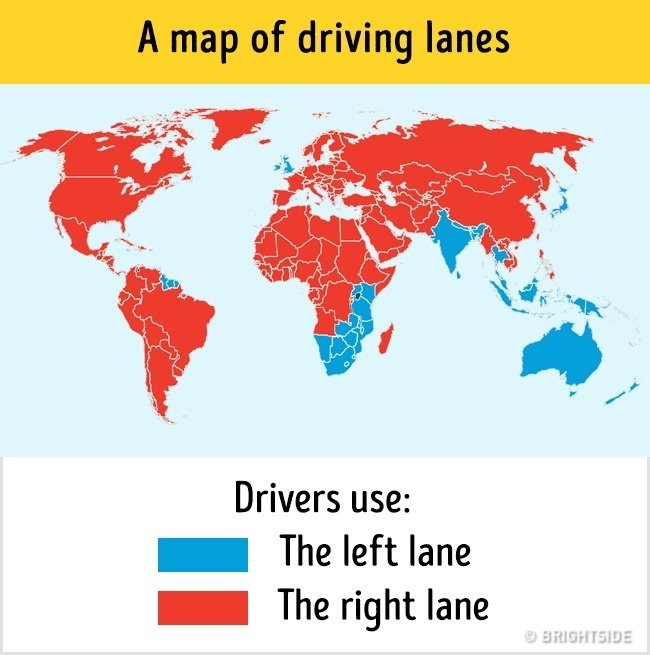 Bản đồ chỉ làn đường xe chạy