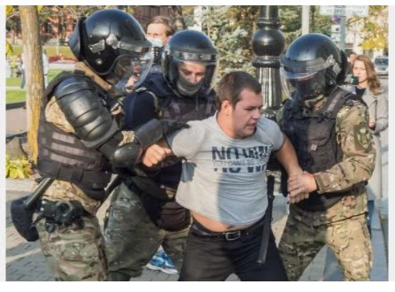 Police detained the protesters in the Russian city Khabarovsk