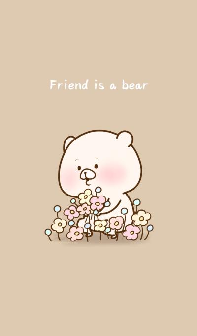 Friend is a bear (flowers)