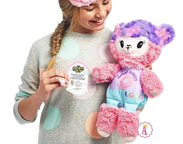 Мягкая игрушечная лама в поп-корне Pikmi Pops Giant Pajama Llama