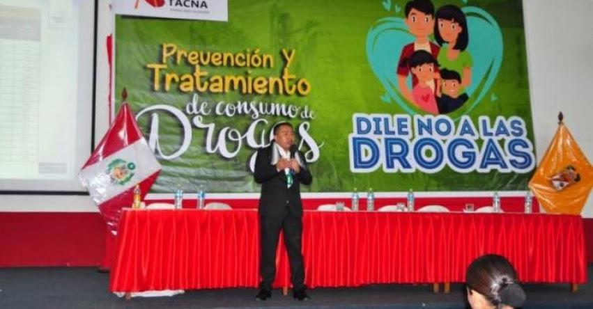 Baja el consumo de drogas entre escolares de Tacna a nivel nacional