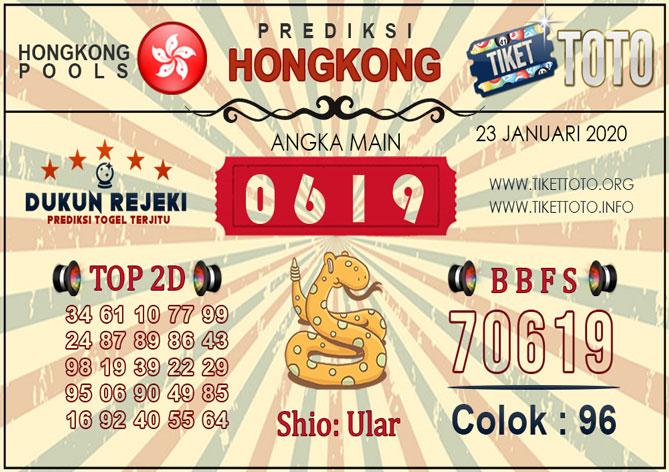 Prediksi Togel HONGKONG TIKETTOTO 23 JANUARI 2020