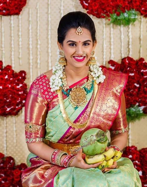 Gorgeous Bride in Lakshmi Haram