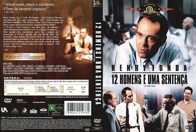 Capa DVD 12 HOMENS E UMA SENTENÇA