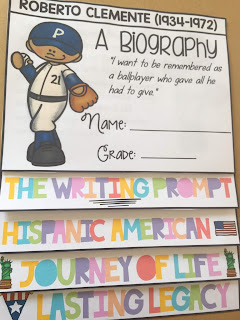biography flipbook on Roberto Clemente