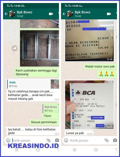 Tangga Trap Besi, Balkon Plat Peforated, dan Pintu Pagar Plat Peforated Orderan Bpk Bowo KeTiga