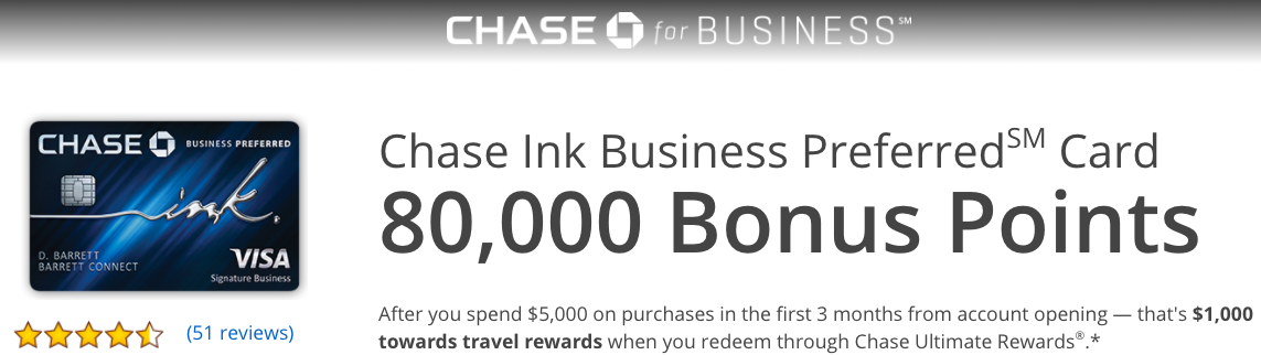 Relentless financial improvement 80000 bonus points with the chase 80000 bonus points with the chase ink business preferred credit card reheart Image collections