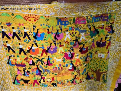 Mexican hand-crafted embroideries from Santa Cruz, Tzintzuntzan, Michoacán