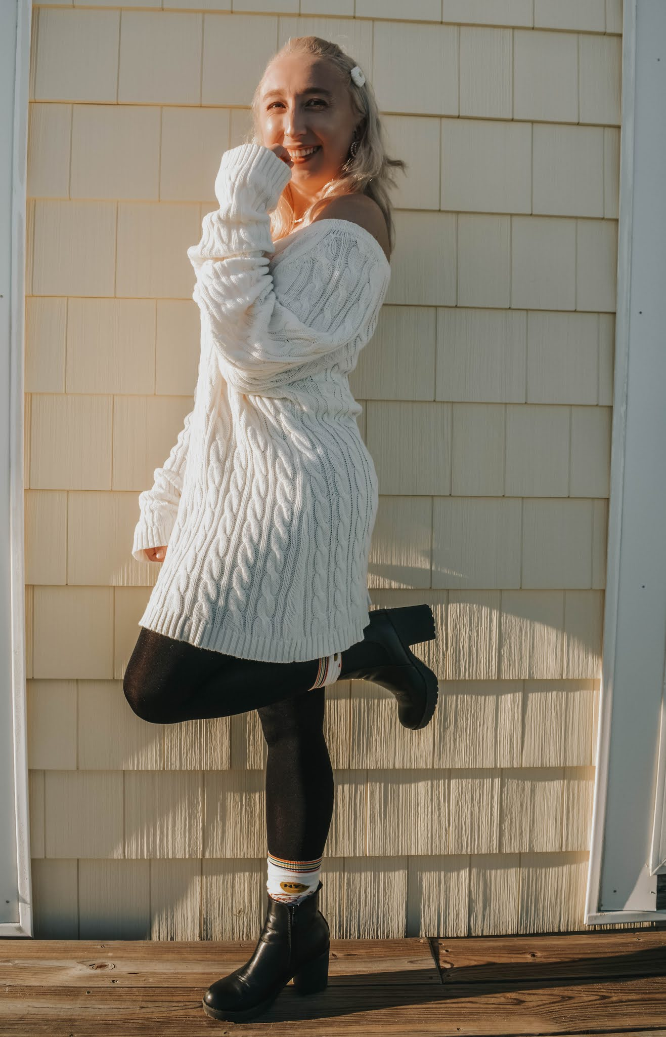 How I Style Thrift Finds: The Sweater Dress