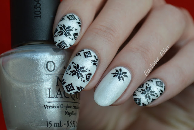 christmas jumper stamping monochrome moyou London opi