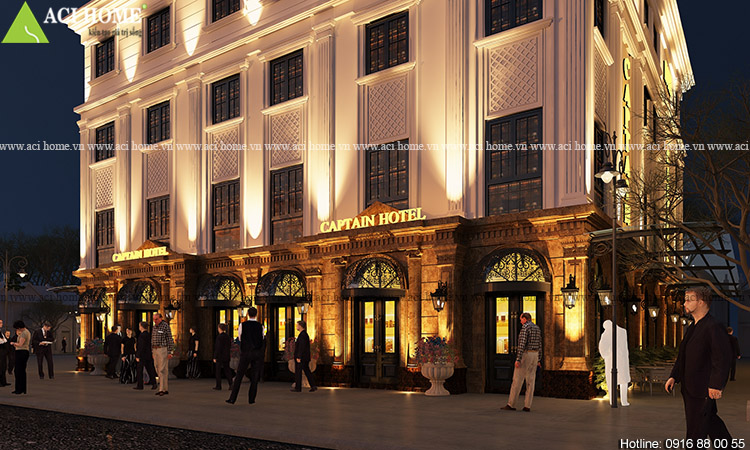 Thiết kế khách sạn Captain Hotel 5 tầng tại Hạ Long - Ảnh 3