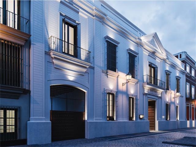 fachada inspiración neoclasica hotel mercer sevilla chicanddeco