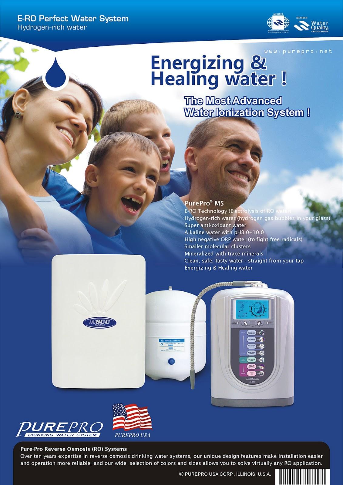 美國 ERO 氫水機 PurePro® M5 完美水系統 : 頂尖科技的結合 - 美國PurePro®健康還原水