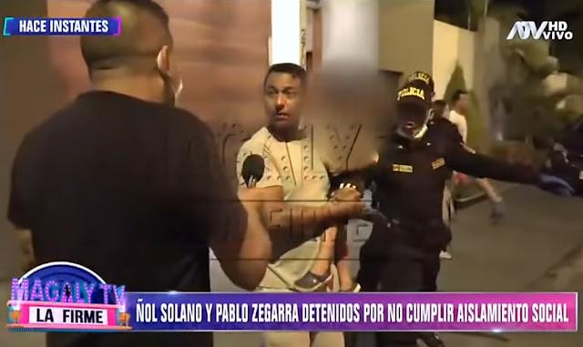 VÍDEO: Nolberto Solano y Pablo Zegarra son detenidos por no cumplir aislamiento social