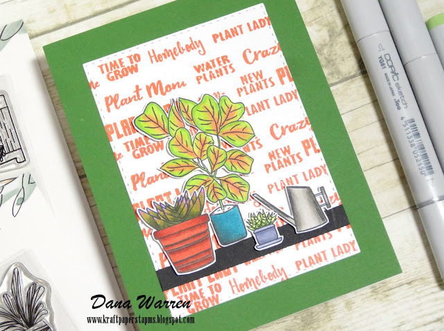 Dana Warren - Kraft Paper Stamps - Journals for Life - Plant Lady