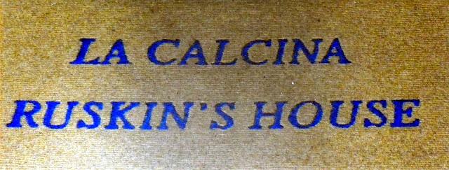 John Ruskin, Pensione Calcina, Zattere, Venice