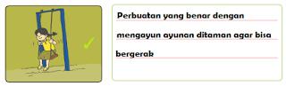 Perbuatan yang benar dengan mengayun ayunan ditaman agar bisa bergerak www.jokowidodo-marufamin.com