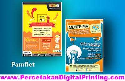 Contoh Desain PAMFLET Dari Percetakan Digital Printing Terdekat