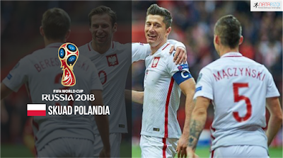 Skuad Susunan Pemain Polandia di Piala Dunia 2018