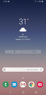 Tampilan Standar Google Seach Widget