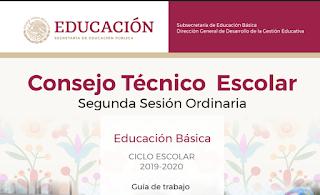 Guía Consejo Técnico Escolar 2da sesión CTE 2019-2020 NEM