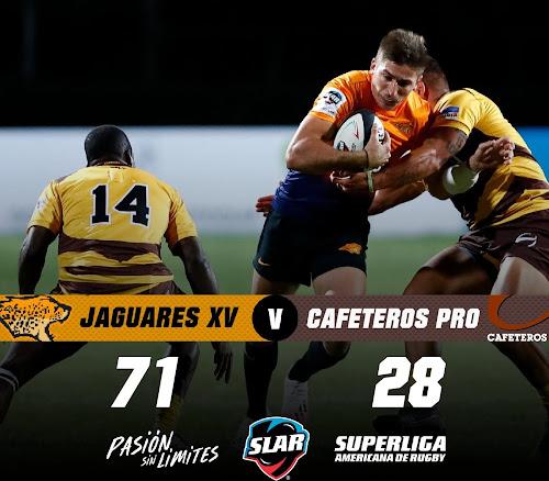 Sólida victoria de Jaguares XV ante Cafeteros Pro