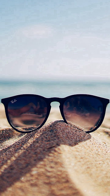 Nature Glass Sun Rayban Bokeh Vacation Sea Summer iphone 5 wallpaper-coolwallpaperforiphone_com