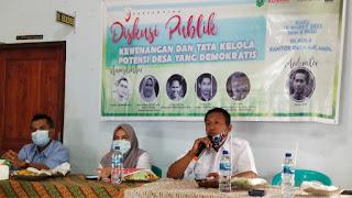 Diskusi Publik Multi Pihak Tata Kelola Potensi Desa Digelar di Desa Kalampa