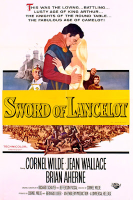 Póster película La espada de Lancelot