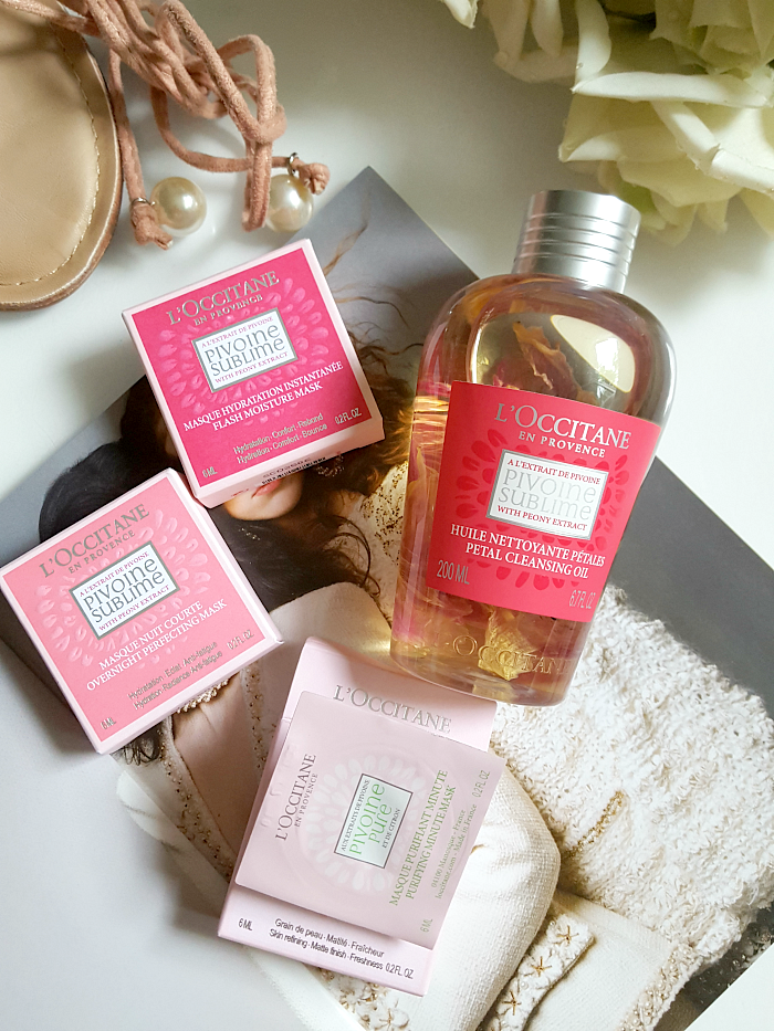 L´OCCITANE - Pivoine Sublime Petal Cleansing Oil & Mini Gesichtsmasken