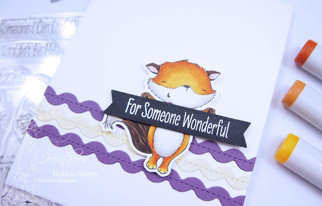 Heather's Hobbie Haven - 30 Minute Card Using Copic Markers - My Favorite Things - Friendly Foxes
