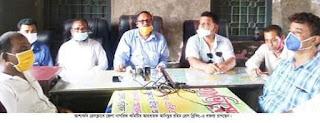 আশাশুনিতে প্রেসক্লাবে জেলা  নগরিক কমিটির মতবিনিময়