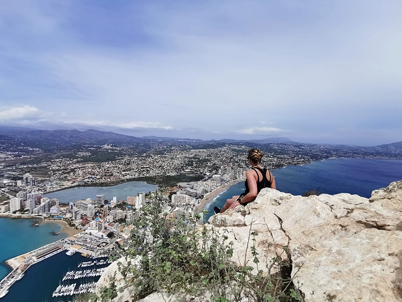 Looking over Calpe from the top of Penon d'ifach