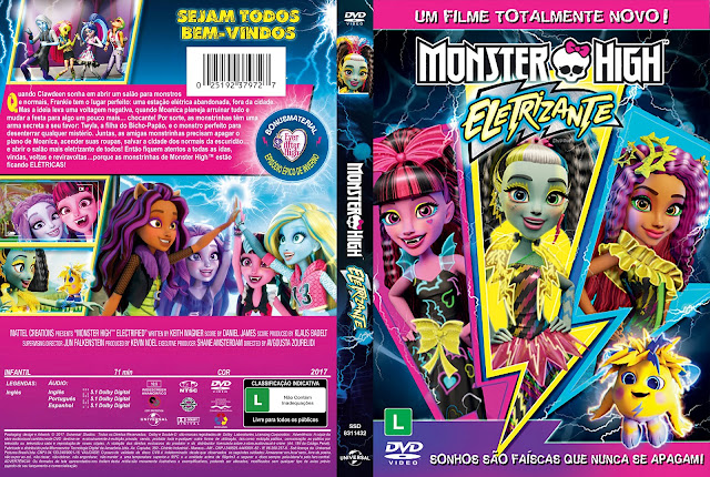Capa DVD Monster High Eletrizante [Custom]