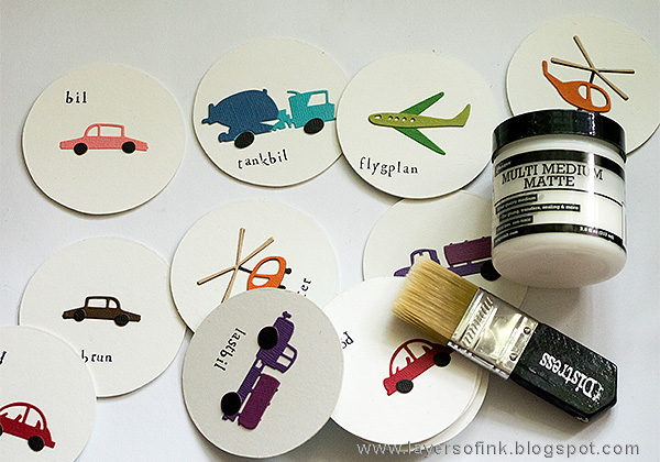 Layers of ink - Transportation Memory Game Tutorial by Anna-Karin with Tim Holtz Sizzix Cityscape Commute