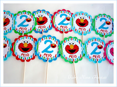 toppers cupcake Elmo