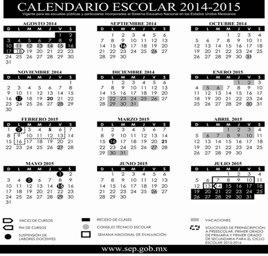 ANTENA docente: Calendario Escolar 2014-2015