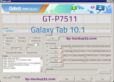 سوفت وير هاتف Galaxy Tab 10.1 موديل GT-P7511 روم الاصلاح 4 ملفات تحميل مباشر