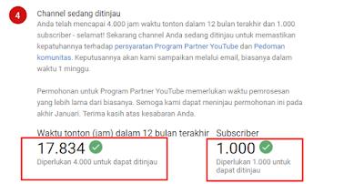Berapa lama peninjauan Chanel Youtube