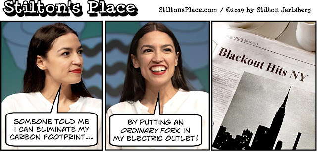 stilton's place, stilton, political, humor, conservative, cartoons, jokes, hope n' change, AOC, Trump, Omar, blackout, Area 51