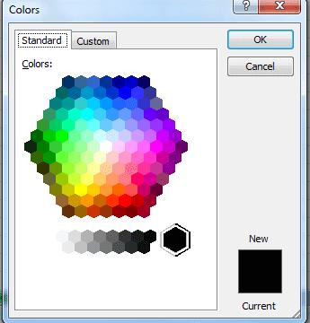 standard option color