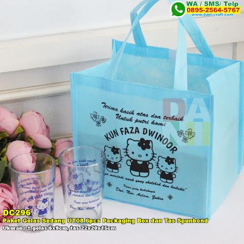 Paket Gelas Sedang UT08 6pcs Packaging Box Dan Tas Spunbond