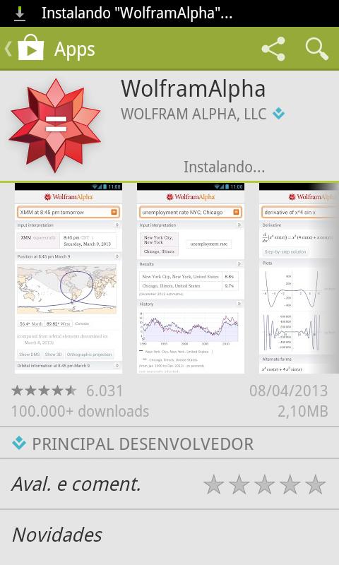 Instalando aplicativo
