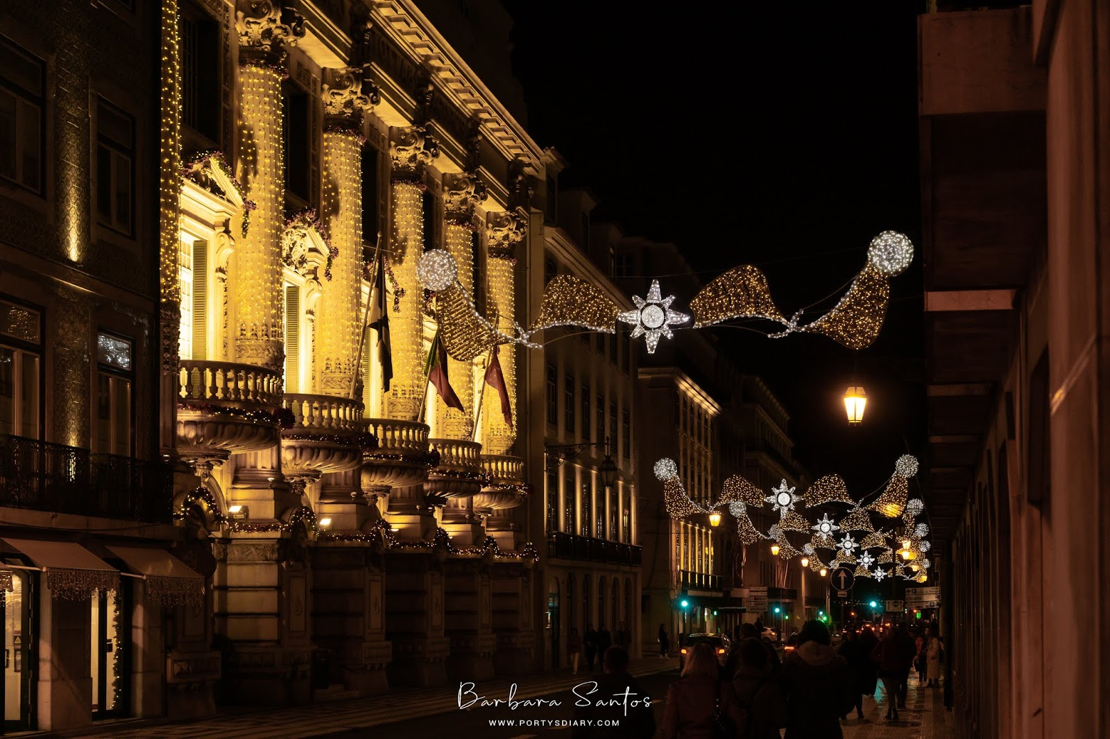 Rua do Ouro - Christmas Decorations in Lisbon