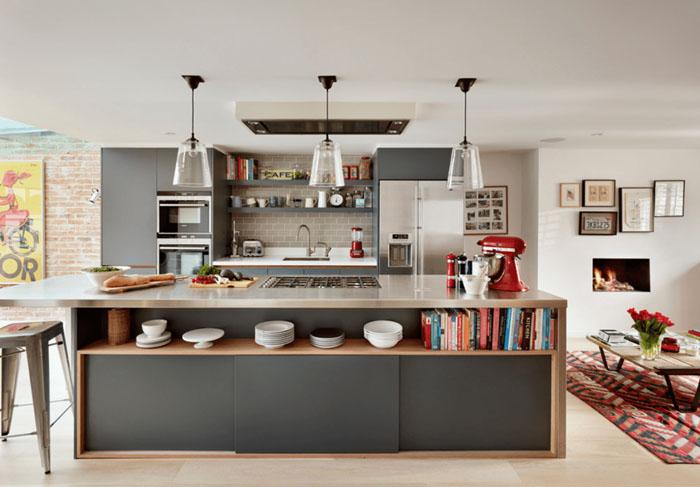 metalik gri mutfak dolabı modelleri