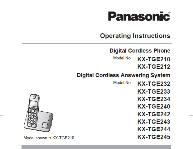 Panasonic KX-TGEA20 Manual