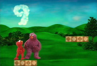 Elmo, Telly, Gabi and Alice continue the game. Elmo and Telly must get to 10. Sesame Street The Great Numbers Game
