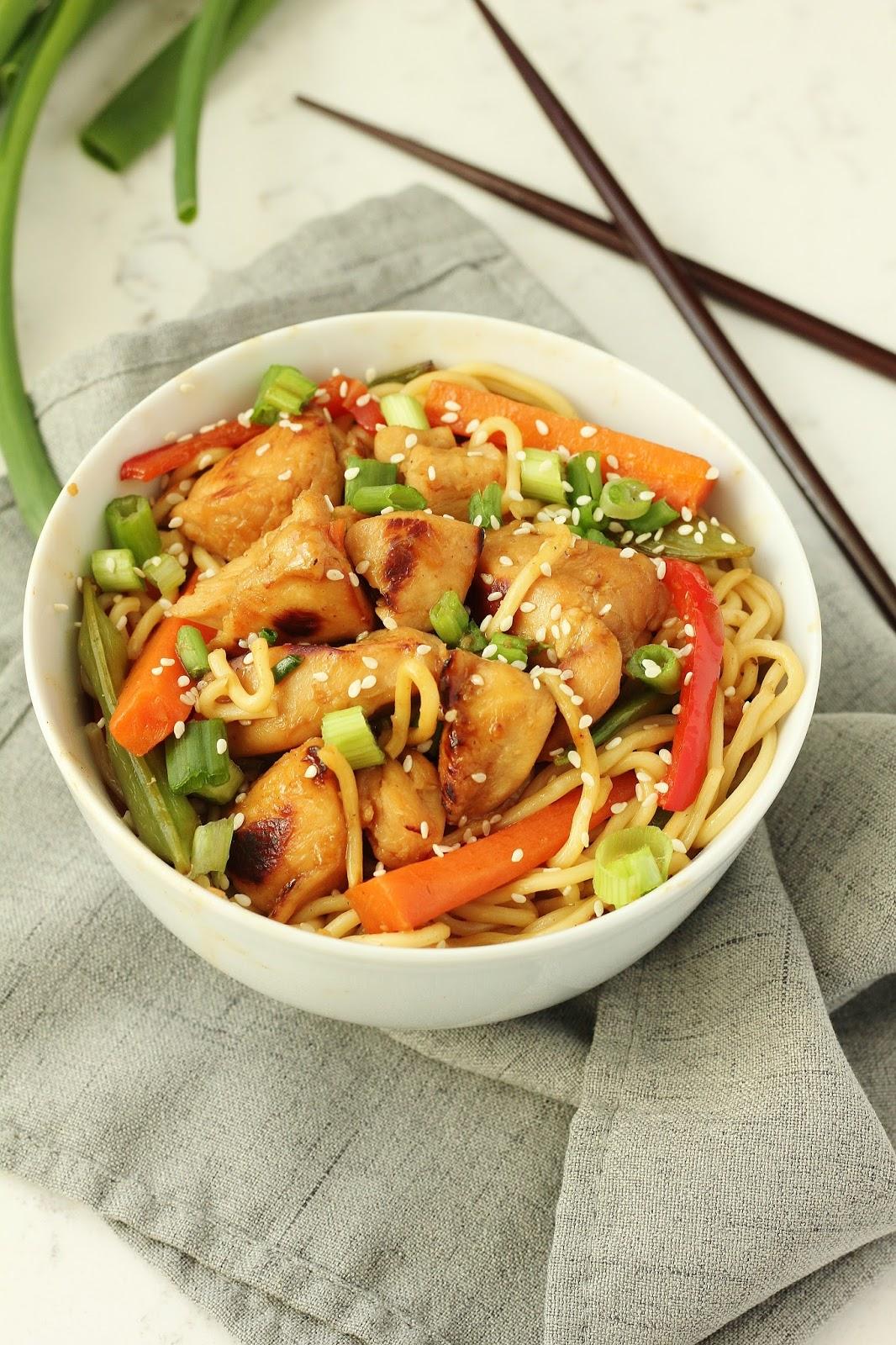 Easy Teriyaki Noodle Bowls