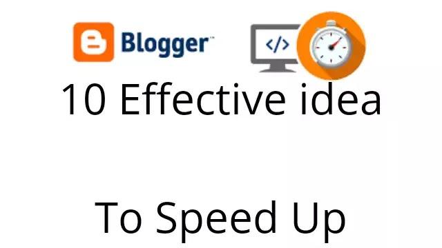 increase website speed in blogger